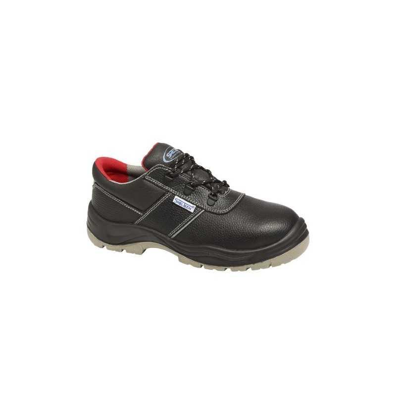 Scarpe da lavoro calzatura bassa in pelle nero modello Harvey