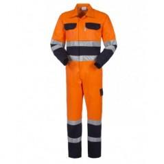 Tuta dalavoro ad alta visibilità Bicolore Arancione e Blu Navy