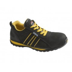 Scarpe antinfortunistica calzatura bassa effetto nabuk nero finiture gialle modello Yuma