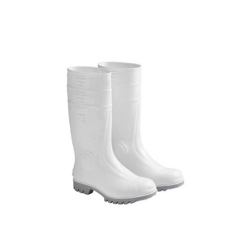 Stivali in gomma PVC bianchi uso alimentare antiscivolo anticaseinaresistente a benzine e solventi
