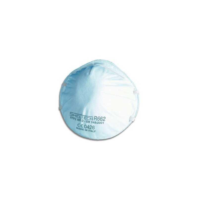 Respiratore per polveri fumi e nebbie FFP2 NR D modello sheltech