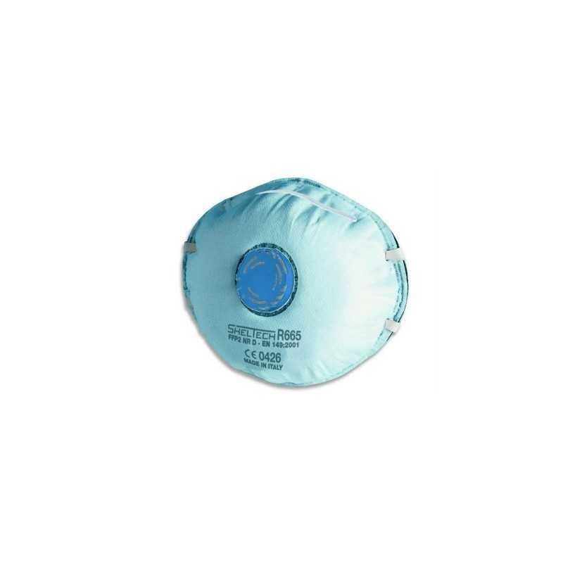 Respiratore sheltech per polveri fumi nebbie e odori fastidiosi FFP2 NR D con valvola
