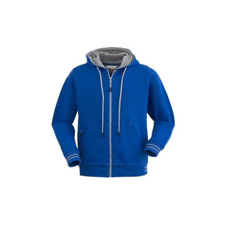Felpa in cotone con zip e cappuccio Modello Hampton Abbigliamento promozionale