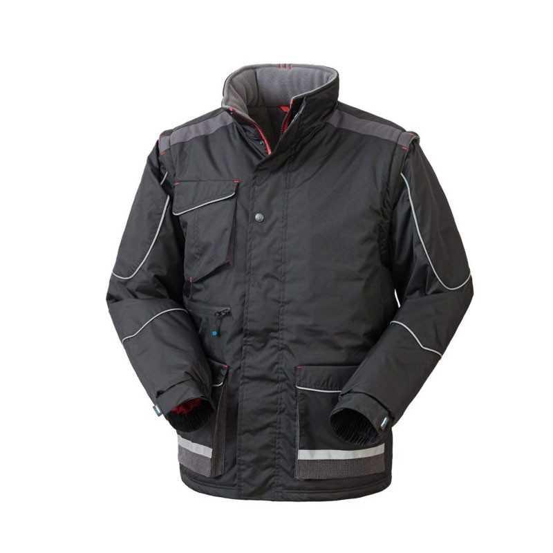 Giubbotto da Lavoro 100% Poliestere Chiusura con Cerniera Cappuccio Tasche Laterali Modello SNIPER