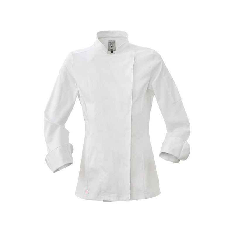 Giacca da cuoco donna 96% cotone chiusura bottoni automatici modello Colette