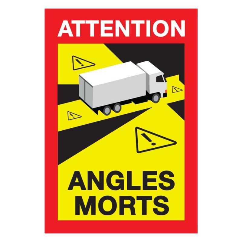 Kit Adesivo Angoli Morti Pannello Angolo Morto Camion Francia Certificato Normativa