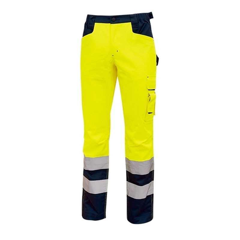 U-Power pantaloni da lavoro alta visibilità gialli Light HL155YF