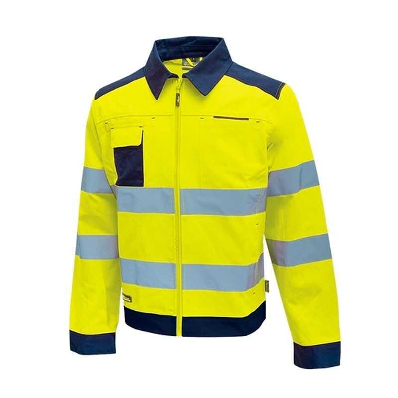 Giacca da lavoro alta visibiltà Gleam U-Power gialla