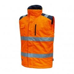 Gilet arancione alta visibilità U-Power Prime imbottito