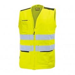 Gilet giallo da lavoro alta visibilità U-Power Smart