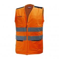 Gilet arancione da lavoro alta visibilità U-Power Smart