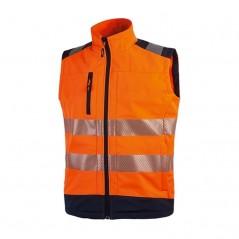 Gilet arancione da lavoro alta visibilità U-Power Dany
