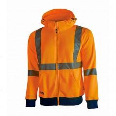 Felpa arancione alta visibilità U-Power Melody