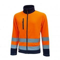 Giacca arancione alta visibilità in pile U-Power Hot