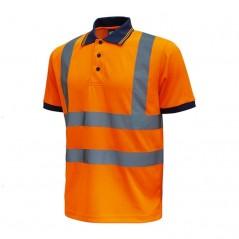 Pol arancione alta visibilità U-Power FOG manica corta