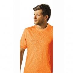 T-Shirt manica corta in 100% cotone fiammato in colori fluo U-Power